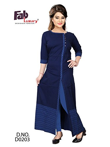 8eb678b34b7 Fabluxury Womens   Girl s Denim Gown  Amazon.in  Clothing   Accessories