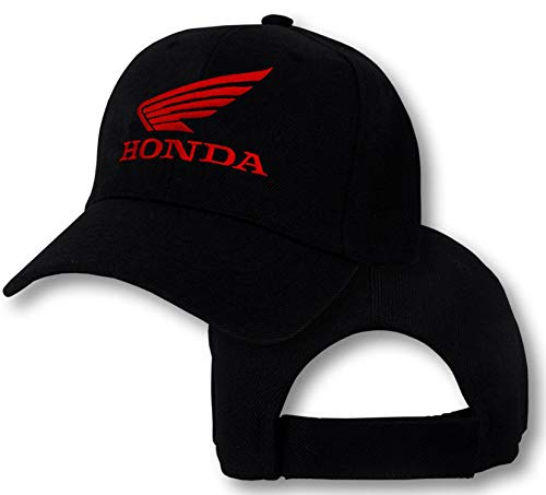Ladies Cbr Honda - Honda Wing Logo Cap Hat Motorcycle Racing Motorbike CRF XR CB CBR VFR CTX Bike Adjustable Baseball Cap Black