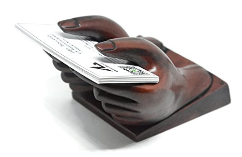 Hands Business Card Holder - NaCraftTH Business Card Holder Hand Figure Display Polyresin Countertop Office Restaurant Home Decor