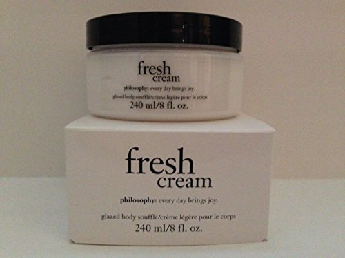 Philosophy Fresh Cream Glazed Body Souffle 8 Fl Oz / 240 Ml (Boxed 8 Ounce Jar)