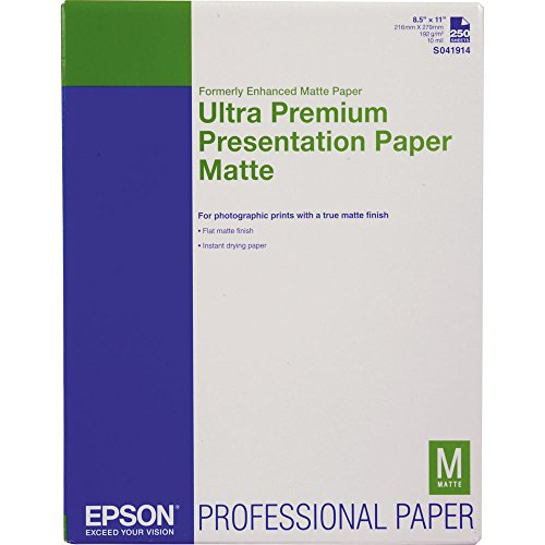 Epson Ultra Premium Presentation Paper Matte, 8.5 x 11