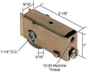 CRL 1-1//4 Steel Sliding Glass Door Roller With 9//16 Wide Housing for Acorn Doors