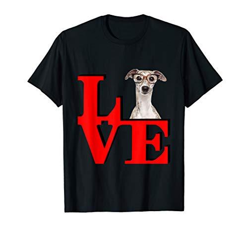 My Greyhound w Glasses Love Park  T-Shirt