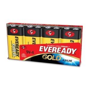 Eveready A522BP-4 Eveready Alkaline General Purpose Battery,Alkaline - 9V DC