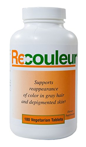 Recouleur Vitiligo Vitamin and Mineral Supplement for White Spot and Skin Repigmentation - 6 Month Supply - Treatment Therapy address Leucoderma Leukoderma and Repigmentation of Discolored Skin by Recouleur