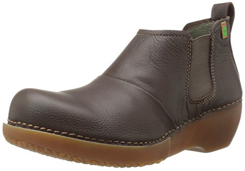 El Naturalista Womens Nc70 Tricot Ankle Bootie Brown