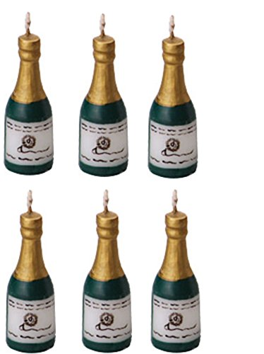 Oasis Supply Wax Champagne Candle Holders with Birthday Candles ()
