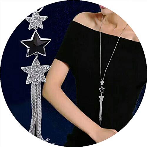 (Bergort Tassel Long Necklace Women Pendants Fashion Jewelry Sweater Necklaces Gifts)