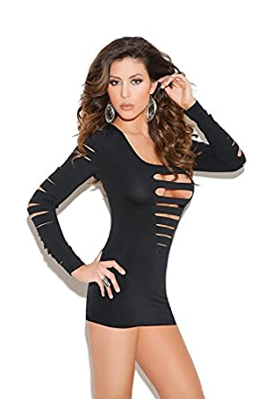 Long sleeve u back dress