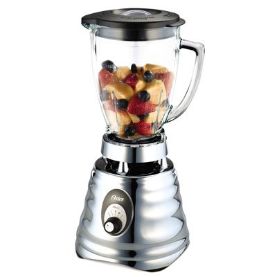 Oster 4655 blender, Retro Chrome 3 speed, 5 cup glass jar.