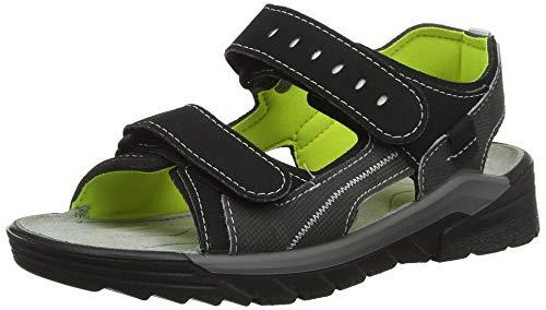 Ricosta Boys' Tajo. Ankle Strap Sandals, Black (Oliv/Schwarz 582) 4 UK ()