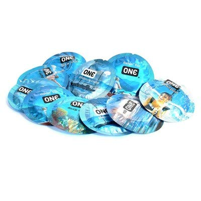 ONE Pleasure Plus Premium Lubricated Latex Condoms with Silver Pocket/Travel Case-24 Count