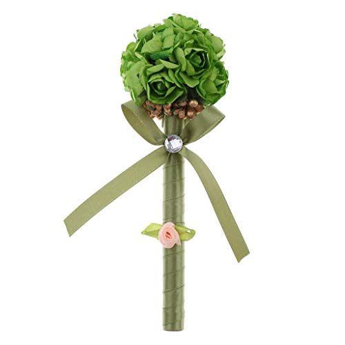 BROSCO Beautiful Flower Ball Guest Book Signing Pen Wedding Banquet Party Prom Supplies | Color - - Green Engraved Tent