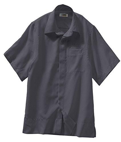 (Edwards Batiste Camp Shirt, STEEL GREY, XLarge)