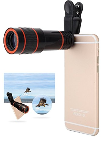 Cellphone Camera Lens, 12X Telephoto Lens, High Definition 12X Magnification Monocular Lens 12X Focus Lens