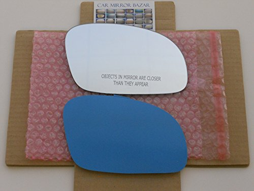 New Replacement Mirror Glass with FULL SIZE ADHESIVE for 2001 - 2010 Volkswagen Beetle Passenger Side View Right RH