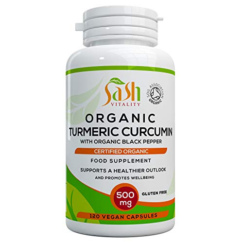 Organic Turmeric Curcumin Capsules 1500mg Per Serving (3 caps daily) High...