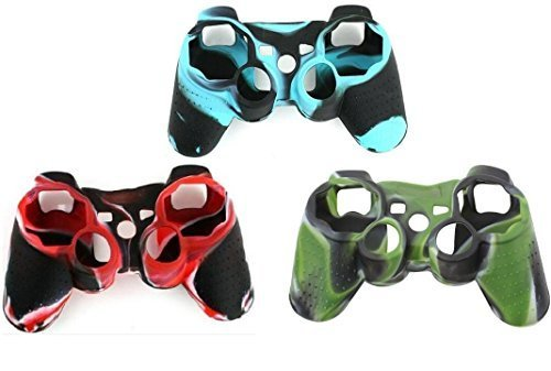 CDH(TM) 3 pack Wear-resistant Black Silicon Protective Case Cover for Sony Playstation PS3 Remote Controller Camouflage
