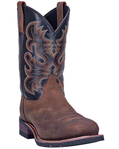 (Laredo Men's Rockwell Western Work Boot Steel Toe Brown 8.5 D)