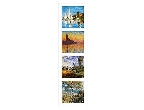 Regatta Four Light (Alonline Art - Collage 4 Bordighera Giorgio Regatta Claude Monet VINYL STICKER DECAL 28
