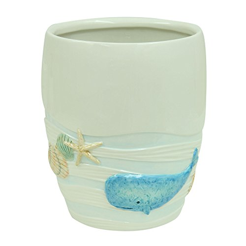 Bacova Guild 89661 Sea Splash Wastebasket, Blue