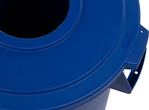 Carlisle 341032REC14 Bronco LLDPE Recycle Waste Container, 32-gal. Capacity, 22.37 x 27-3/4, Blue (Case of 4) by Carlisle (Image #4)