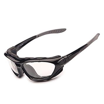 ZoliTime Gafas de Ciclismo 2 en 1 Marco óptico Piernas y Correa Desmontables Gafas polarizadas Deportivas
