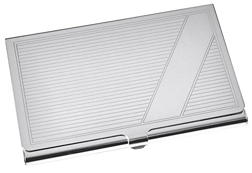 Silver Card Case by Orton West (Case Card Striped)