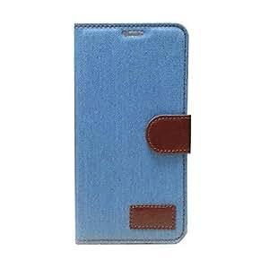 GX Caso de cuero del vaquero Líneas de cuerpo completo con ranura para tarjeta para la galaxia de Samsung i9600 S5 (colores surtidos) , Dark Blue