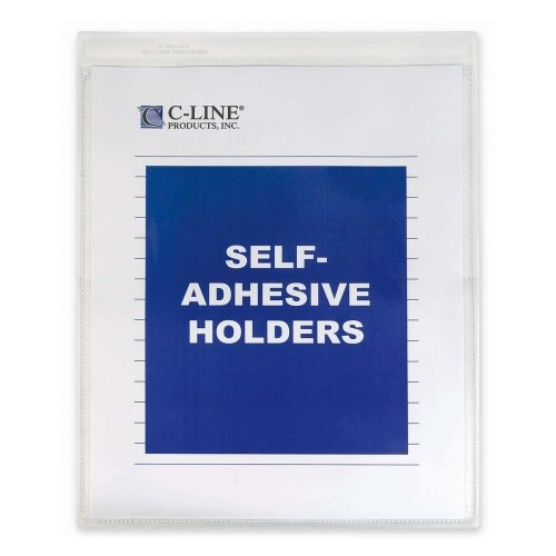 Cline Vinyl Seal (Wholesale CASE of 5 - C-Line Self-Adhesive Seal Shop Ticket Holders -Seal Shop Ticket Holder,Self Adhesive,9