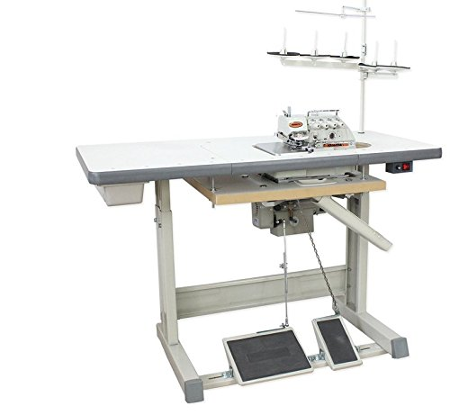 High Speed Industrial Serger Overlock Interlock Submerged Table+Motor (Yamata FY747A - 2 Needle 3 or 4 Thread)