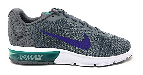 NIKE Womens Air Max Sequent 2 Running Shoe Cool Grey / Court Purple