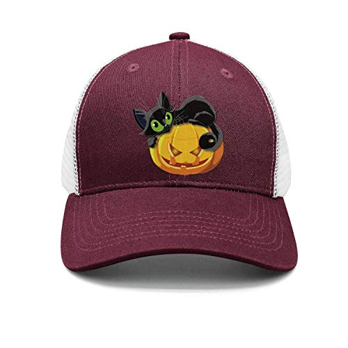 Man Halloween Pumpkin with cat Snapback hat Baseball Caps soprt Cap for $<!--$13.50-->