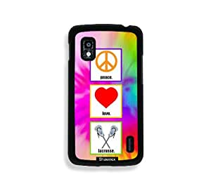 Shawnex Love Peace Lacrosse Thinshell Case Protective Nexus 4 Case