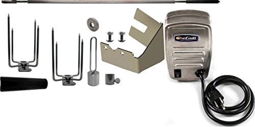 OneGrill Weber Fit Stainless Grill Rotisserie Kit With 50 lb. Electric Motor (Fits: Weber Spirit 210)