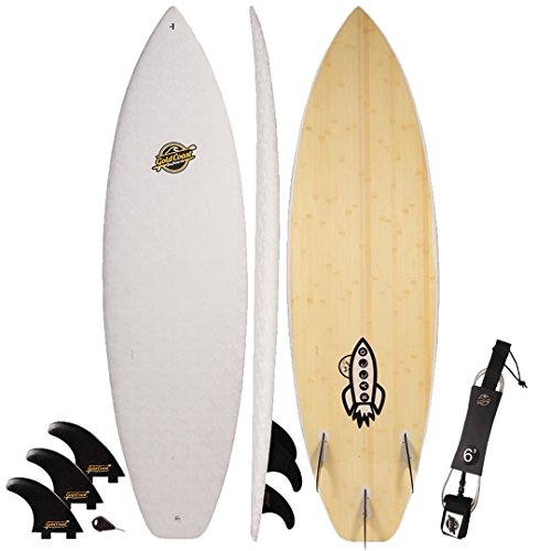 Gold Coast Surfboards Hybrid Soft Top Surfboard | 6' Razzo Surf Board | Fun High Performance Surf Boards