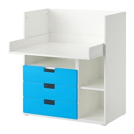 IKEA STUVA - escritorio con 3 cajones, blanco, azul - 90 x 79 x ...