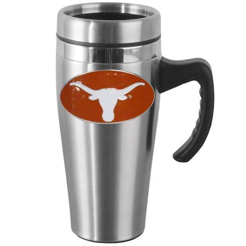 Longhorn Handles - NCAA Texas Longhorns Steel Travel Mug with Handle