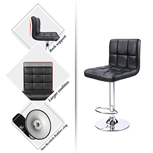 Homall Modern Pu Leather Adjustable Swivel Barstools