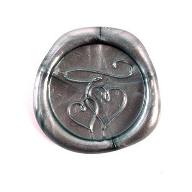 Double Hearts Flexible Wax Seals - Silver