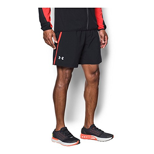 Under Armour Men's Launch 2-in-1 Shorts,Black (004)/Reflective, Medium by Under Armour (Image #1)