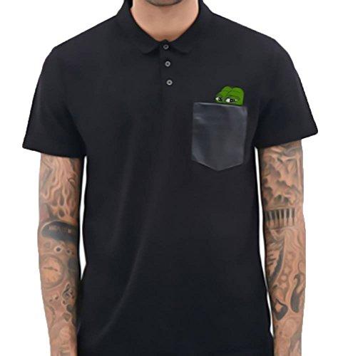 Umad Bro? Herren Poloshirt, Einfarbig schwarz schwarz