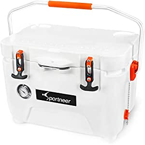 Sportneer-25-Quart-Cooler-Ice-Chest-with-Built-in-Thermometer-for-Road-Trip-Camping-Picnic-BBQ-Fishing-Hunting-Bear-Resistant-and-Zero-Leakage-1