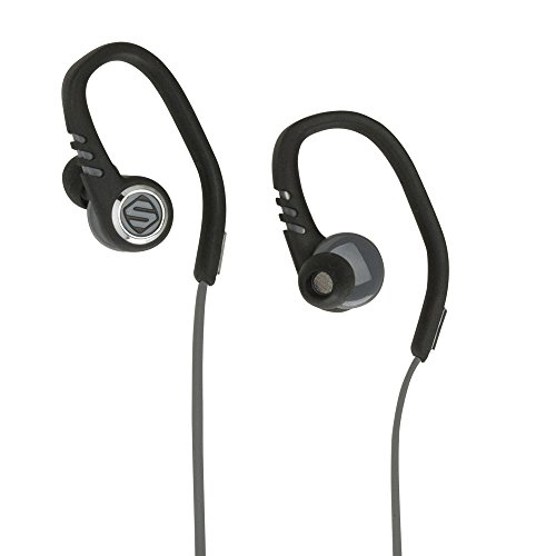 SCOSCHE HPSC3TI 3 Running Earbuds Headphones with TapIt Remote and Microphone - Splashproof and Dustproof IPX4 Rated Exercise Headphones with Multiple Size Silicone Ear Bud Inserts - Black