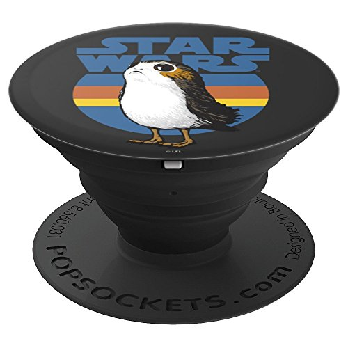 Star Wars Cute Porg Silhouette Retro Background - PopSockets Grip and Stand for Phones and Tablets