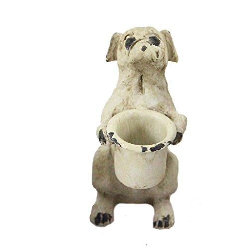 Metal Dog Taper Candle Holder - (Bulldog Candle Holder)