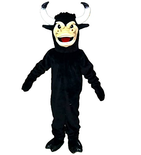 Black Cow Mascot Costume Cartoon Character Adult Sz Real Picture ()