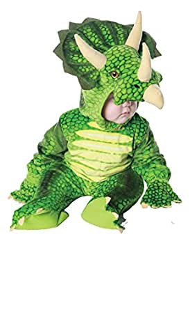 Underwraps Costumes Baby's Triceratops Costume Jumpsuit, Green, Small (6-12 Months)