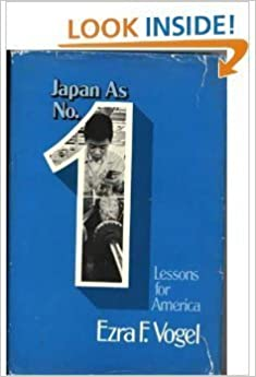 image for Japan As Number One: Lessons for America by Ezra F. Vogel (1979-05-22)