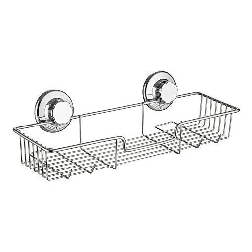 Sann-Cestello-portaoggetti-multiuso-attacco-a-ventosa-senza-bisogno-di-fori-in-acciaio-INOX-304-antiruggine-da-bagno-cucina
